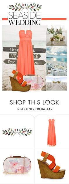"""seaside wedding"" by fullofweakness ❤ liked on Polyvore featuring jcp, Jeffrey Campbell, Oasis and Steve Madden"