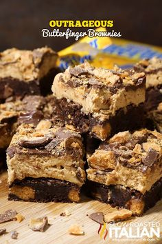 Outrageous Butterfinger Brownies from @SlowRoasted