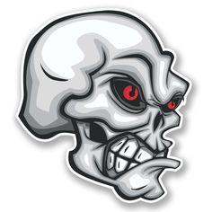 2 x Evil Skull Vinyl Sticker #4219