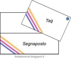Free Printables: Segnaposto e tags - Feste e Sorrisi #partyideas #festebambini #freeprintables