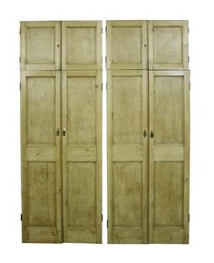 Four Pairs Of Stripped And Waxed Pine Cupboard Doors Uk Architectural Heritage