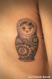 Image result for nesting doll tattoo family