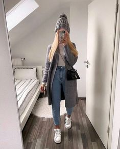 Uni Outfits, Trendy Fall Outfits, Casual Winter Outfits, Winter Fashion Outfits, Everyday Outfits, Stylish Outfits, Ootd Winter, Mode Für Teenies, Mode Ulzzang