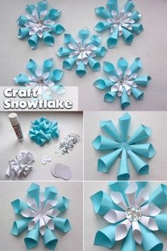 What Christmas crafts can be easily made for children? The article presents 20 ways, get acquainted with them. Such crafts will make your children happy. Kids Christmas Ornaments, Christmas Crafts For Kids To Make, Diy Crafts For Kids, Holiday Crafts, Christmas Diy, How To Make Snowflakes, Crafts For Seniors, Paper Decorations, Flower Crafts