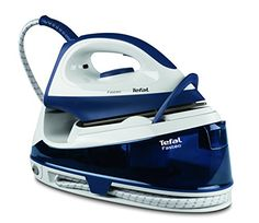 Boasting both speed and practicality, the Fasteo steam generator iron from Tefal is perfectly suited to the demands of a busy lifestyle. The combination of powerful steam and a large water tank allows the Fasteo to perform after a speedy Steam Generator Iron, France Mode, Cord Storage, Easy Storage, 5 Bar, Steam Iron, Barista, Home And Garden, Blue And White
