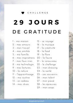 29 jours de gratitutde