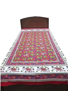 Boho Indi Printed Tapestry Bedding Bedsheet Cotton Indian Bedspread Mogul Interior http://www.amazon.ca/dp/B00LTMRXS0/ref=cm_sw_r_pi_dp_Nsy0wb1H2XCYY