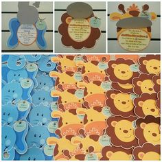 #tarjetas de #invitacion motivo #safari ideal para el #cumpleaños de tu hijo #invitaciones #tarjetas - duancetarjeteria Birthday Themes For Boys, Safari Birthday Party, Girl Birthday, How To Make Scrapbook, Baby Shawer, Animal Party, Baby Boy Shower, Birthday Invitations, Diy Crafts