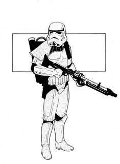 inked star wars storm trooper drawings - Google Search