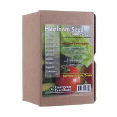 Heirloom Seed Combo Pack $17.95