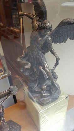 Micheal the Archangel St Micheal, I Believe In Angels, Archangel, Lion Sculpture, Inspirational, Statue, Art, Art Background, Kunst