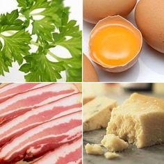 Ingredientes para una salsa carbonara falta nata líquida Receip