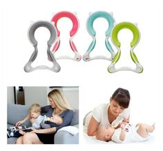 It's easy to grip, helps with motor skills, and features an ergonomic design that matches your baby's natural nursing posture. Get it here.