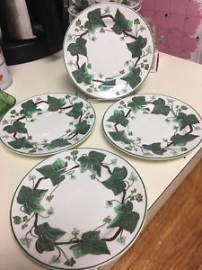 SET 4 WEDGWOOD NAPOLEON IVY green leaves B B BREAD   BUTTER PLATES RETIRED  MARK   eBay 698f7c55c90