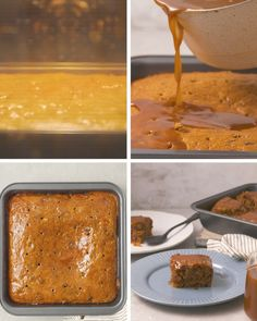 This easy date cake is topped with lush toffee syrup, making it the ultimate winter pudding! And, there's a secret ingredient: ginger ale! Creative Cake Decorating, Creative Cakes, South African Recipes, Ethnic Recipes, Hot Desserts, Dessert Recipes, Sticky Toffee Pudding, Sweet Recipes, Delicious Recipes