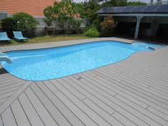 Terrasses oc wood on pinterest deco gardens and dune - Contour piscine composite ...