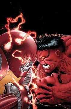Colossus vs Red Hulk