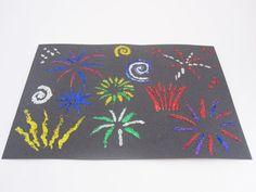 Glitter Fireworks Bonfire Night craft