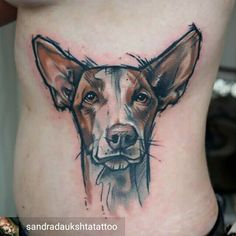 This pretty dog was made at Giahi Löwenstrasse by Sandra Dauksta Cat And Dog Tattoo, Tattoos For Dog Lovers, Dog Tattoos, Body Art Tattoos, Tatoos, Tattoo Sketches, Tattoo Drawings, I Tattoo, Pretty Tattoos