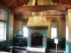 George took Neil and Jackie to Castle Coch in Wales, to inspire them in their restoration of the Fishermans Church. It was the beautiful and intricate paintings of William Burgess that George though might prove helpful in their build.