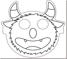 Resources for teaching English (EFL/ESL) in preschool and kindergarten: ideas, games, activities, videos and more. Toddler Halloween, Halloween Masks, Halloween Crafts, Printable Masks, Templates Printable Free, October Crafts, Monster Mask, Mask Template, Rainbow Crafts
