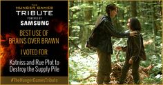 I voted for Katniss and Rue Plot to Destroy the Supply Pile as Tribute for The Hunger Games Tribute Awards #TheHungerGamesTribute  tribute.thehungergames.movie