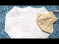 MOLDE DA MÁSCARA 3D (TODOS OS TAMANHOS) - YouTube Sewing Hacks, Sewing Tutorials, Sewing Projects, Easy Face Masks, Diy Face Mask, Doll Patterns, Sewing Patterns, Mascara 3d, Mouth Mask Fashion