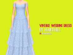 Simsworkshop: Vintage Wedding Dress by heartfall • Sims 4 Downloads