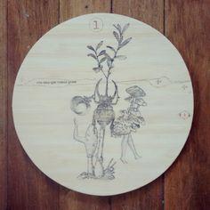 """ Era una que comia gente "" pieza unica. Ilustrada a mano #Himallineishon #art #illustration #drawing"