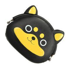 Hot Fashion Women Girls Mini Wallet Kawaii Cute Cartoon Puppy Animal Silicone Jelly Coin Bag Purse Kids Gift Huskies