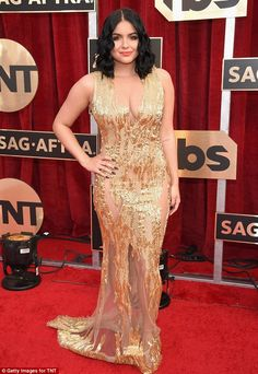Glittering:Ariel Winter looked every inch a star when she hit the Screen Actors Guild Awards on Sunday evening