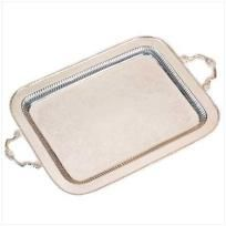 SILVER SERVING TRAY Free Shipping!