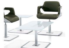 Lounge Sessel Silver - Interstuhl, Exklusiver Lounge-Sessel, Lounge-Hocker