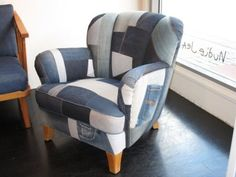 Recycled denim chair
