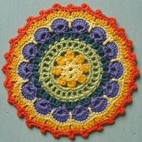 Crochet Mandala Wheel made by Susan, New Zealand, for yarndale.co.uk ... * ♡