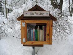 Zelden heb ik zoiets schattigs gezien als de Little Free Library. Oftewel: de gratis minibibliotheek aan de rand van de weg of bij iemand in de tuin waar mensen een boek kunnen meenemen, en een and...