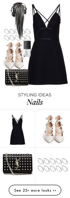 """""""Untitled #1280"""" by sarah-ihab on Polyvore featuring Prada, Gianvito Rossi, Yves Saint Laurent, ASOS and NARS Cosmetics"""