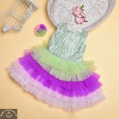 This Whimsical Mint and Multicolor Frills Sequin Girls Dress is a must-add dress to your girl's wardrobe. Baby Dress Online, Girls Dresses Online, Kids Party Wear Dresses, Baby Tutu Dresses, Baby Princess Dress, Dress India, India For Kids, Baby Girl Dress Patterns, Girls Shopping