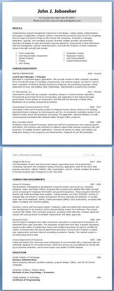 Assistant IT Project Manager Resume Career Parachute Pinterest - resume for project manager