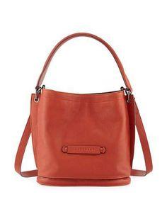 Longchamp Longchamp 3D Leather Crossbody Bag, Brick