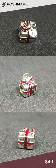 Authentic Pandora 925 ALE charms Authentic Pandora 925 ALE Charm Like New Condition Perfect for Christmas! Please browse and shop ALL of my Christmas Pandora charms in my closet! I also have Authentic Pandora Bracelets!  Solid silver with red Enamel and Pandora dangle tag. Rare/Retired. #791086EN27 Pandora Jewelry Bracelets