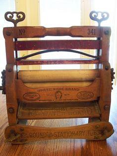 Antique Laundry wringer or mangle by actressteacher, via Flickr