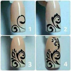 Semi-permanent varnish, false nails, patches: which manicure to choose? - My Nails Swirl Nail Art, Nail Art Diy, Diy Nails, Fancy Nails, Cute Nails, Pretty Nails, Nail Art Arabesque, Lines On Nails, Nagel Gel