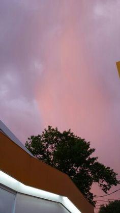 Pinkish clouds