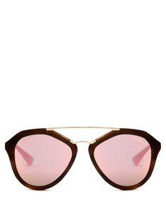 0c82b0a0957cd4 Aviator acetate sunglasses | Prada Eyewear | MATCHESFASHION.COM Prada  Sonnenbrille, Verspiegelte Sonnenbrillen,