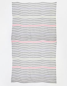 Image 3 of ASOS Lightweight Overized Scarf In Color Pop Stripe