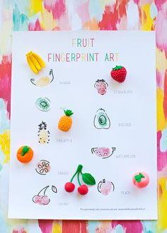 FRUIT FINGERPRINT ART FOR KIDS WITH FREE PRINTABLE TEMPLATE