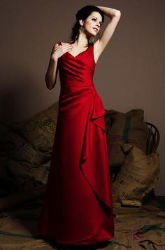 Lipstick red bridesmaid dresses!