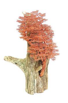 Filo di rame scultura, scultura driftwood, legare albero scultura, arte di driftwood, driftwood arredamento, decorazione domestica, arte rame, arte del metallo  Questa incredibile grandi dimensioni bonsai rame legare albero scultura Driftwood darà la vostra casa unemozione forte. Io uso filo di rame di circa 120 metri di fatto questa scultura. Perfetto come regalo per ogni occasione per chi capisce circa qualità e solidità. Per rendere questo filo albero richiede circa 100 ore per me. È…