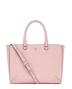 Tory Burch Robinson Small Zip Tote in Pale Apricot #TheRobinson